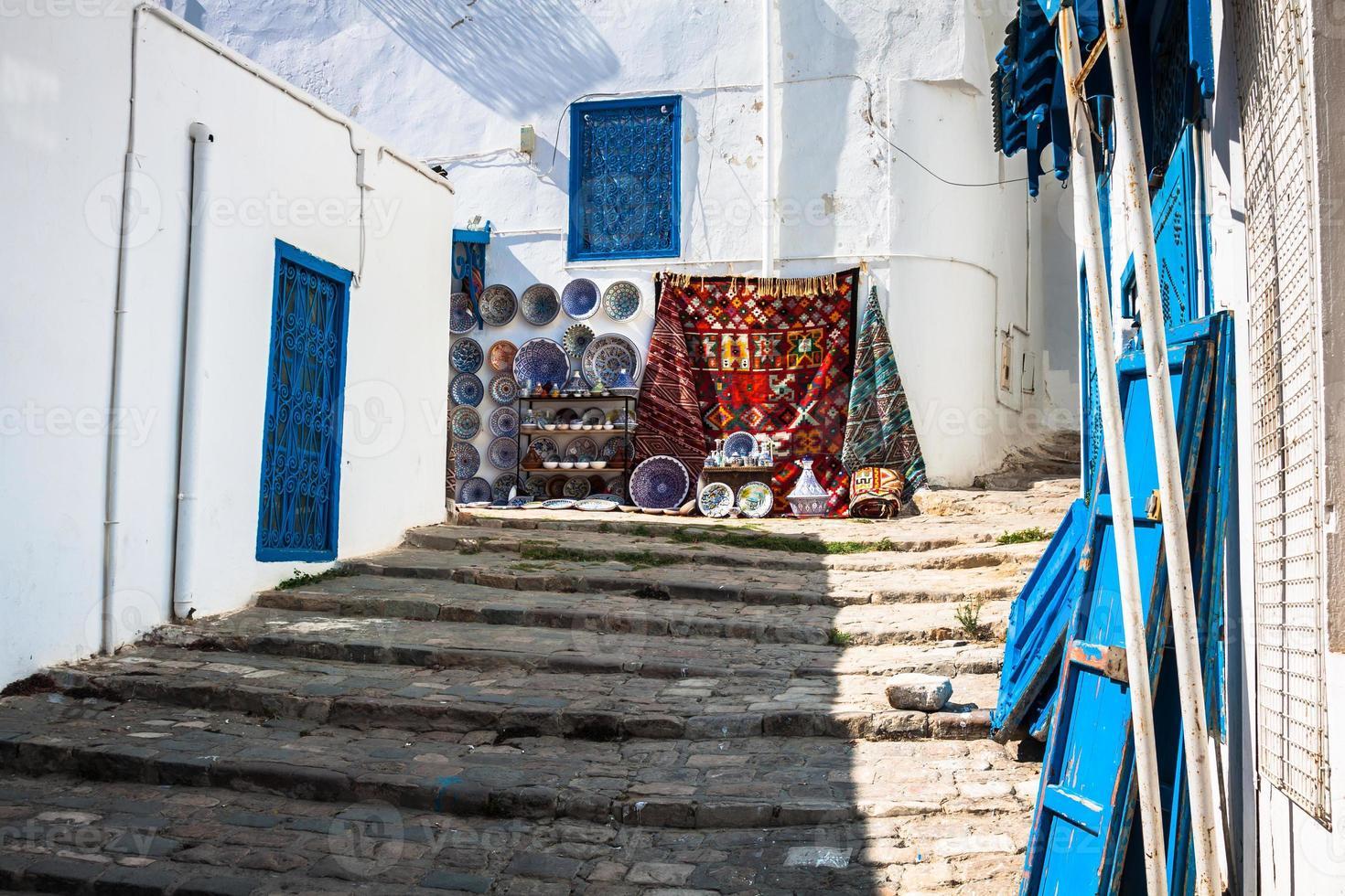 Rue de la ville de sidi bou said, tunisie photo
