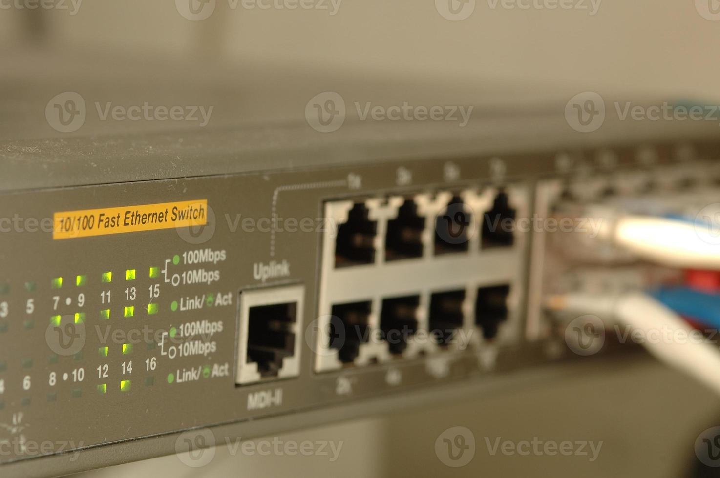 commutateur haut débit en direct photo