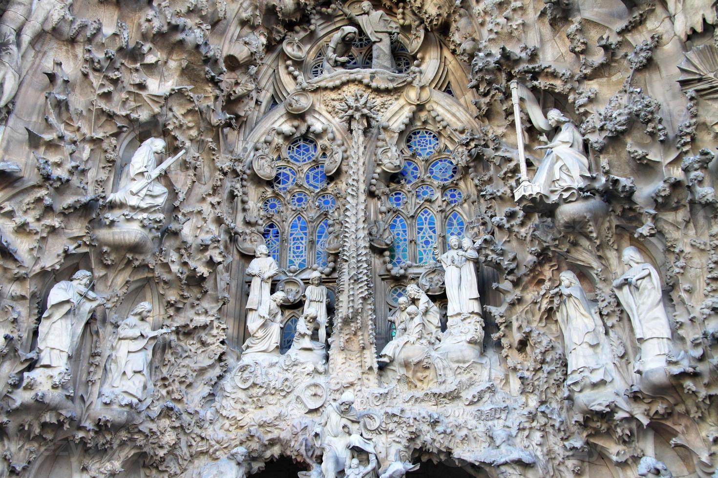 Façade de la Nativité du temple de la Sagrada Familia, Barcelone, Catalogne, Espagne photo
