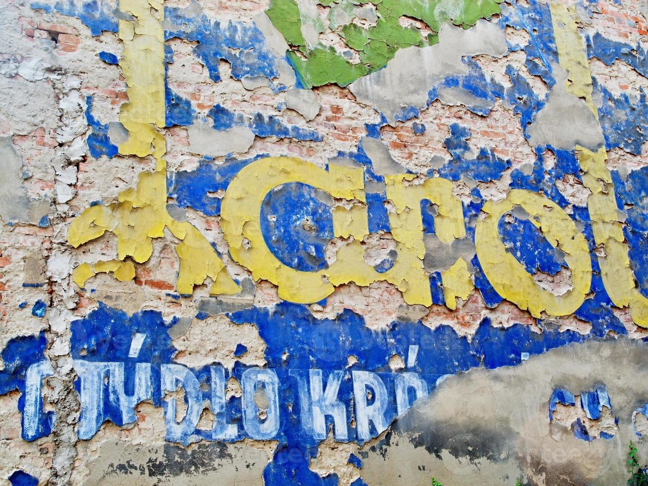 mur fissuré photo