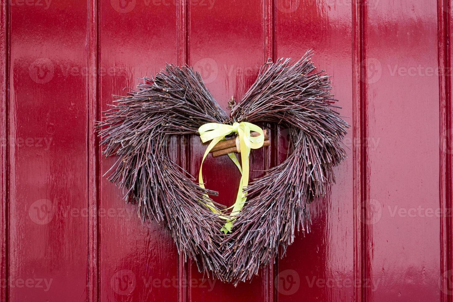 décoration de porte coeur photo