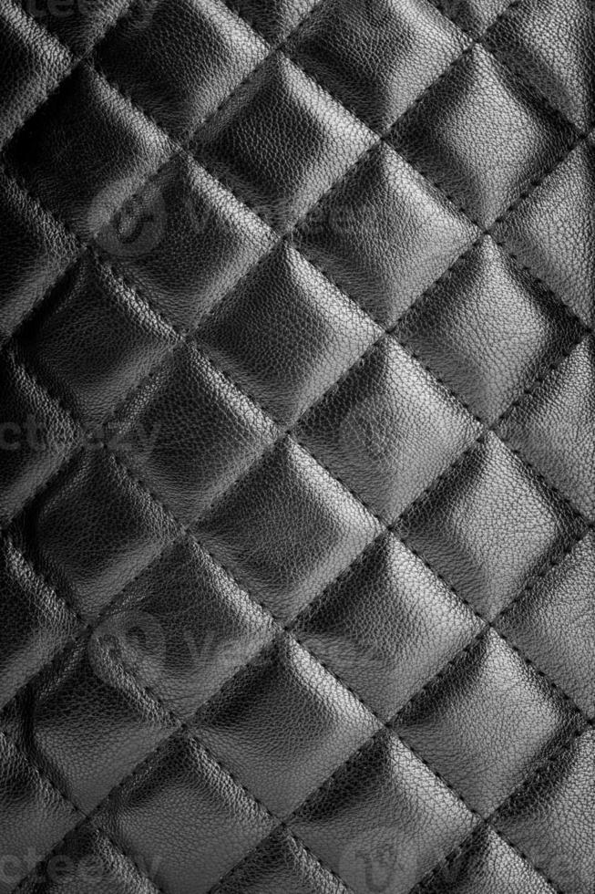 texture de cuir noir photo
