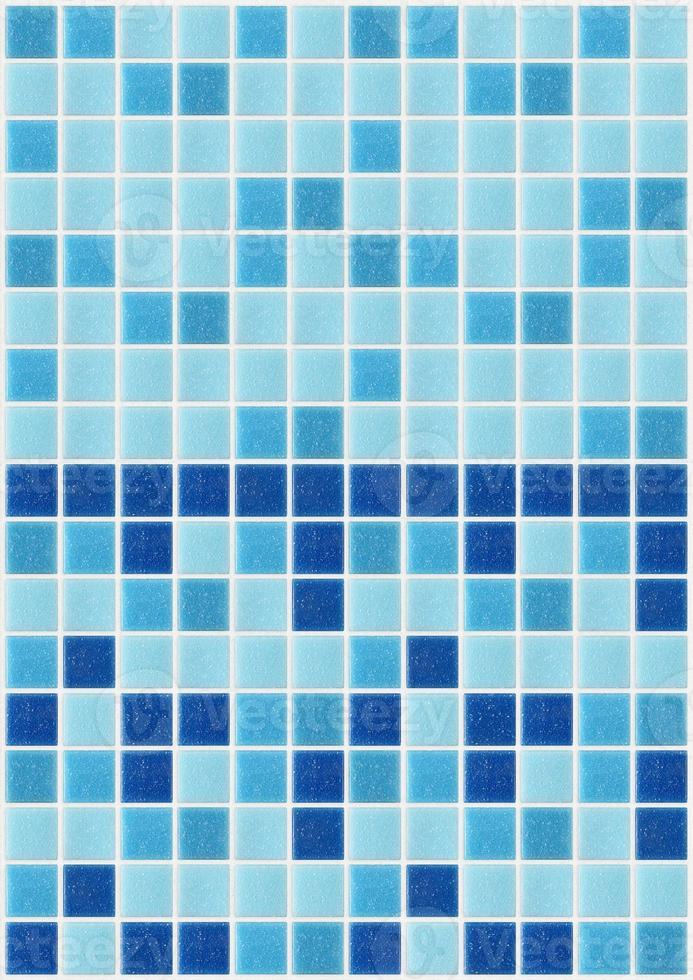 carrelage mosaïque carré bleu texture fond décoré de paillettes photo