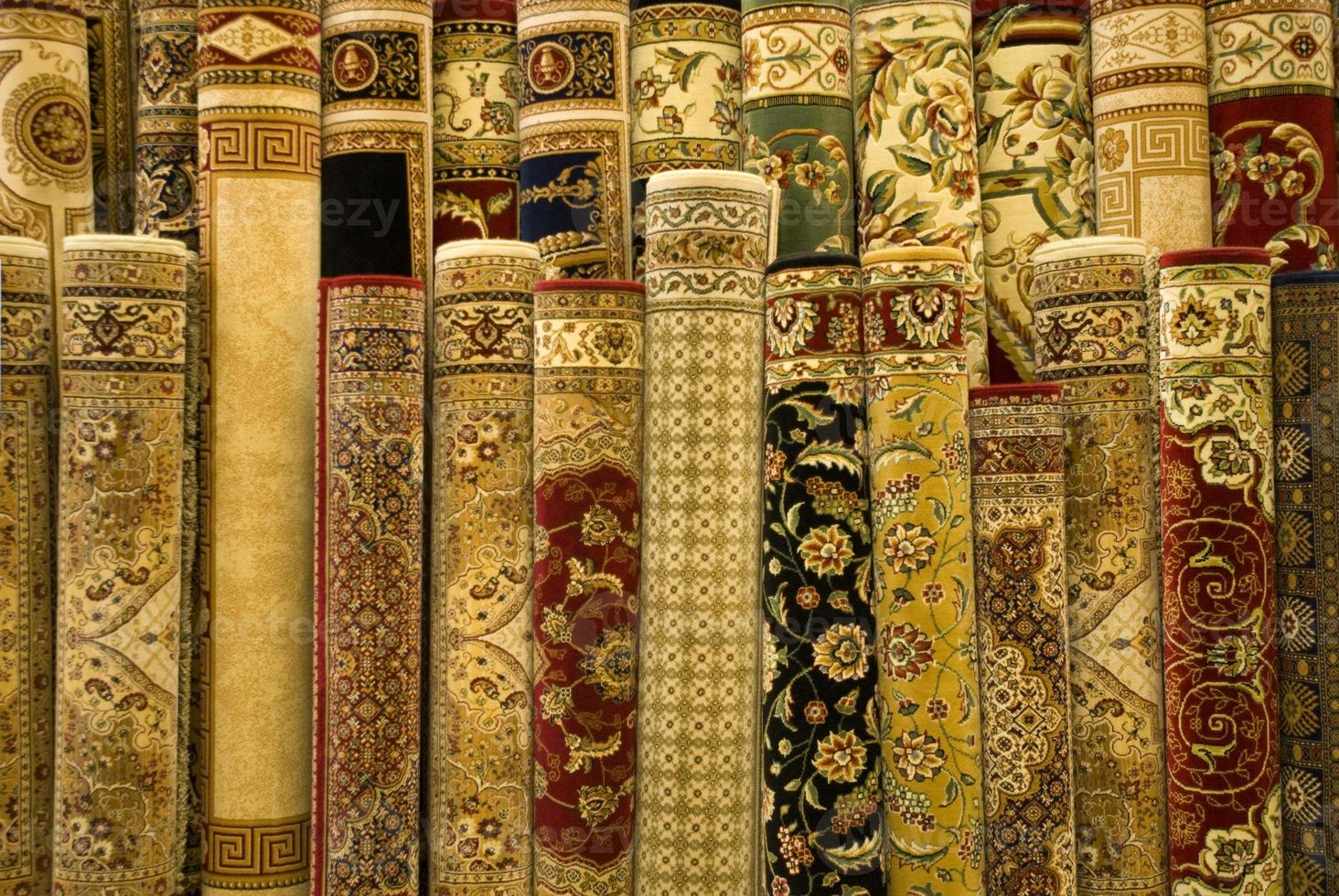 tapis persans exposés photo