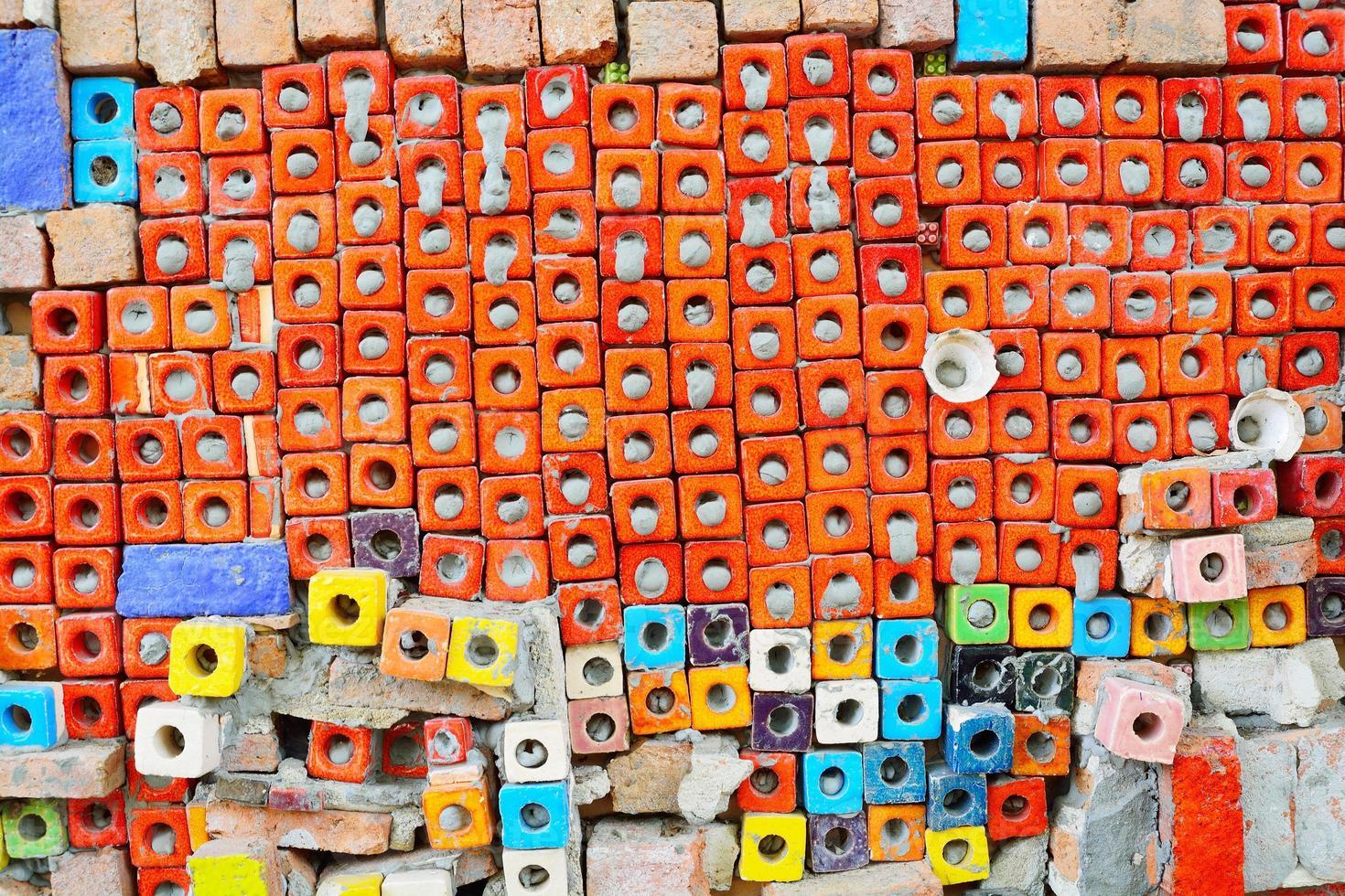 Texture de fond de carreaux de céramique grunge sur mur de ciment photo