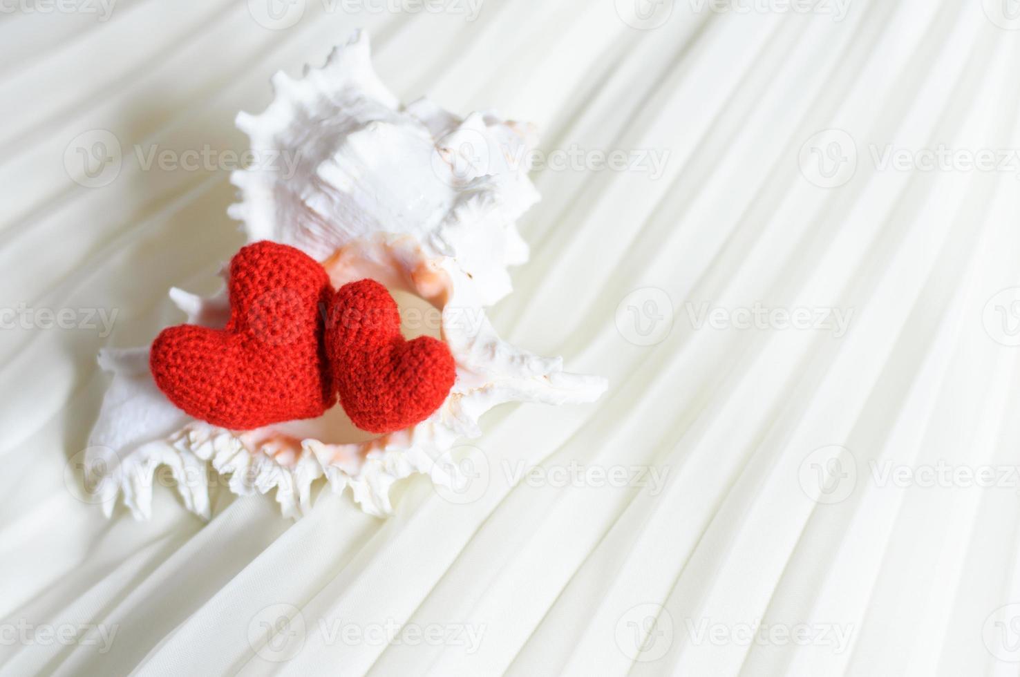 coeurs de la Saint-Valentin sur fond abstrait photo