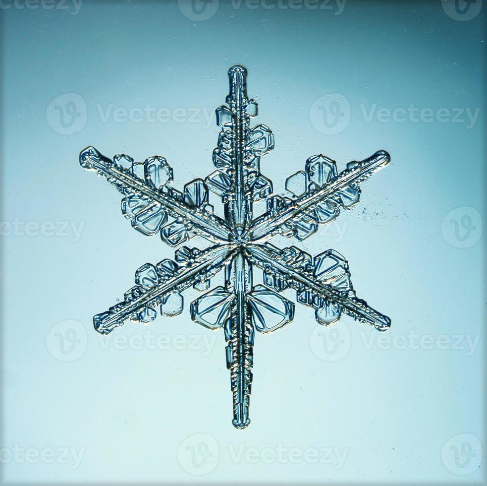 macro de flocon de neige en cristal naturel photo