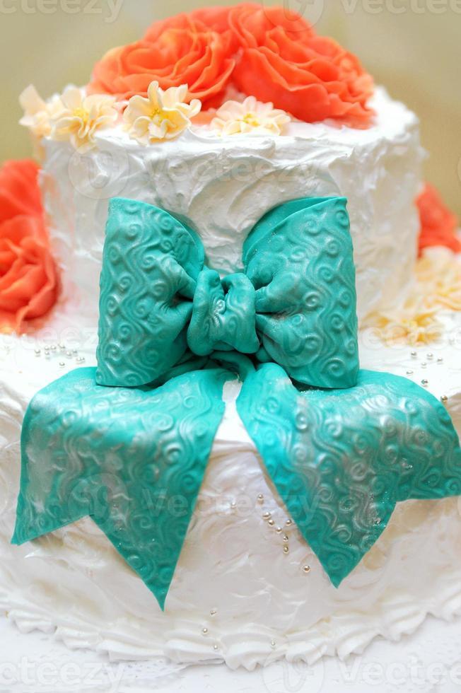 gâteau de mariage. photo