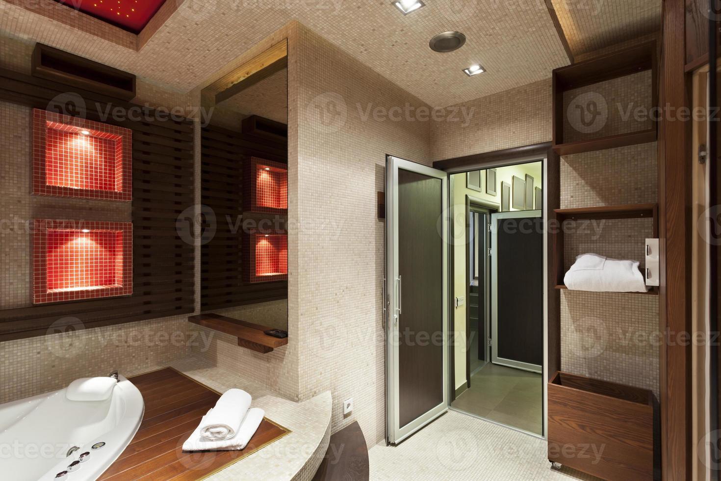 conception de salle de bain de luxe photo