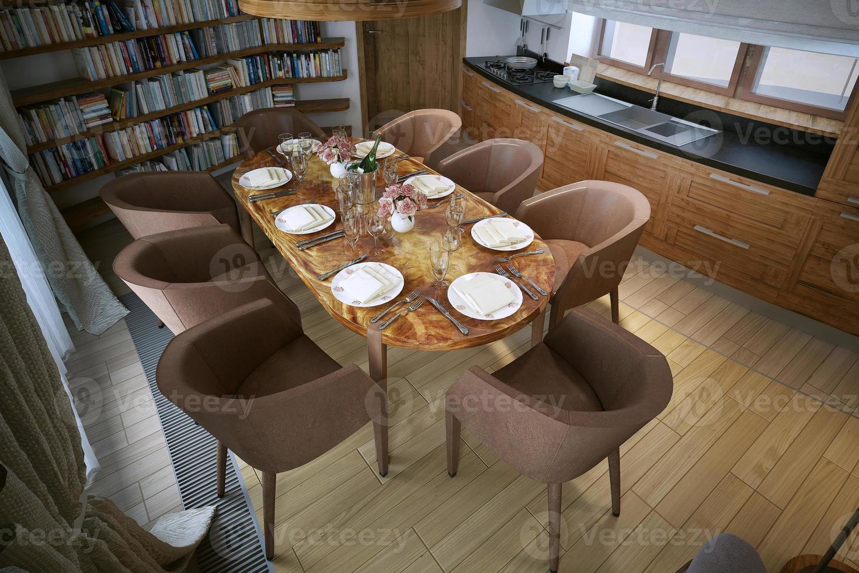 salle à manger de style moderne photo