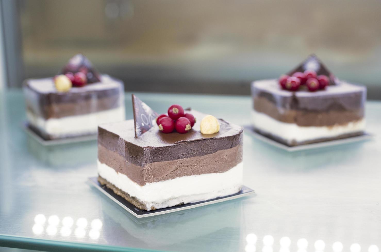 photo mise au point sélective de desserts