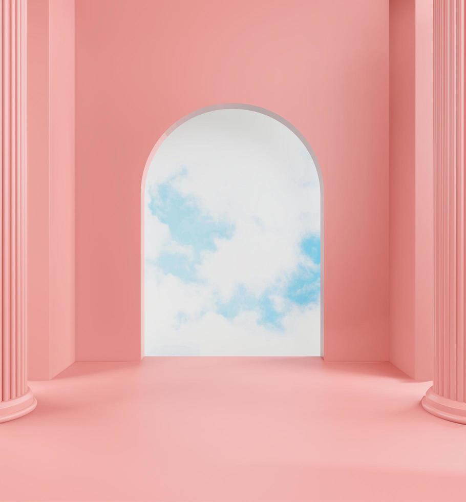 passerelle pastel menant au ciel photo
