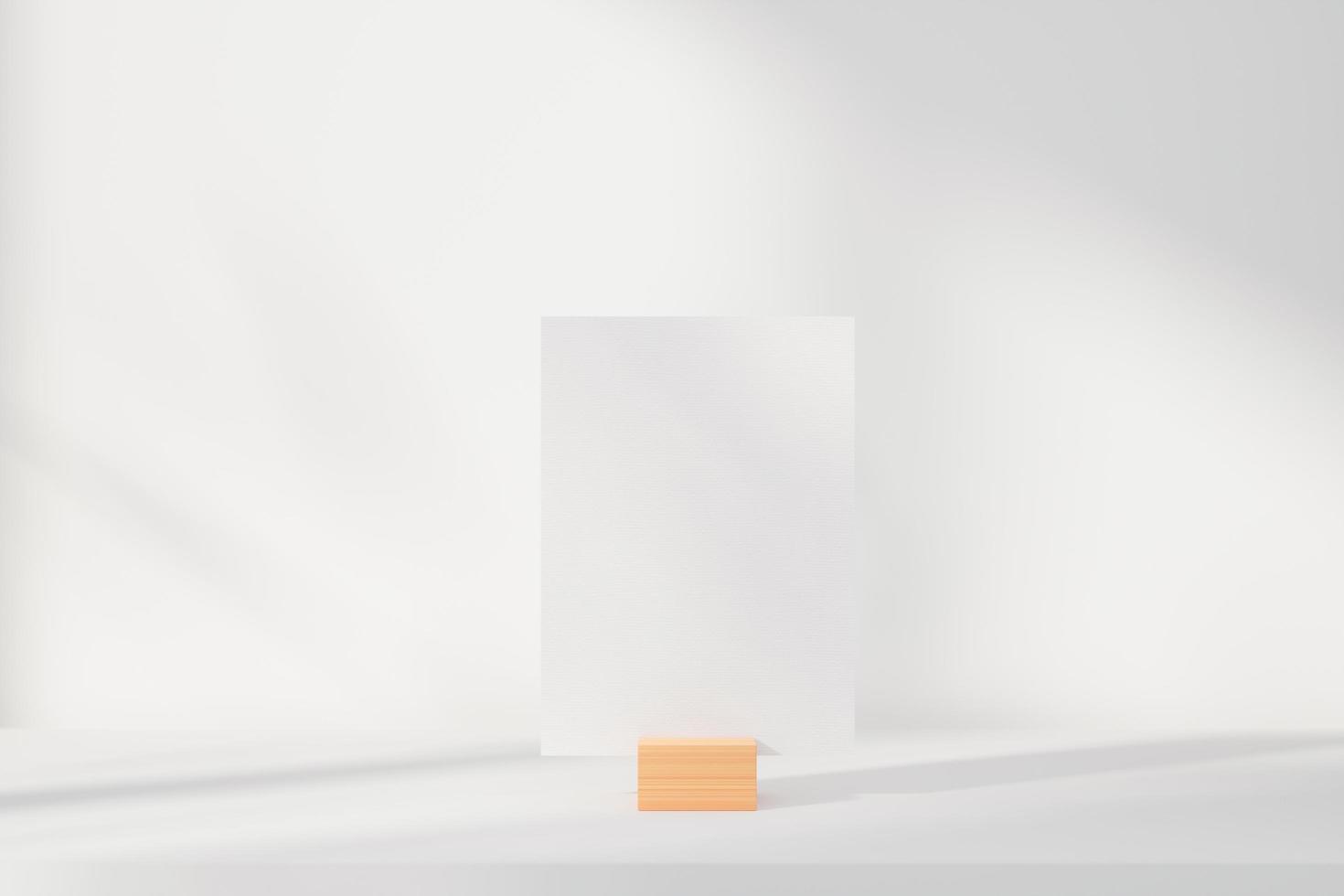 maquette de carte de voeux sur support photo