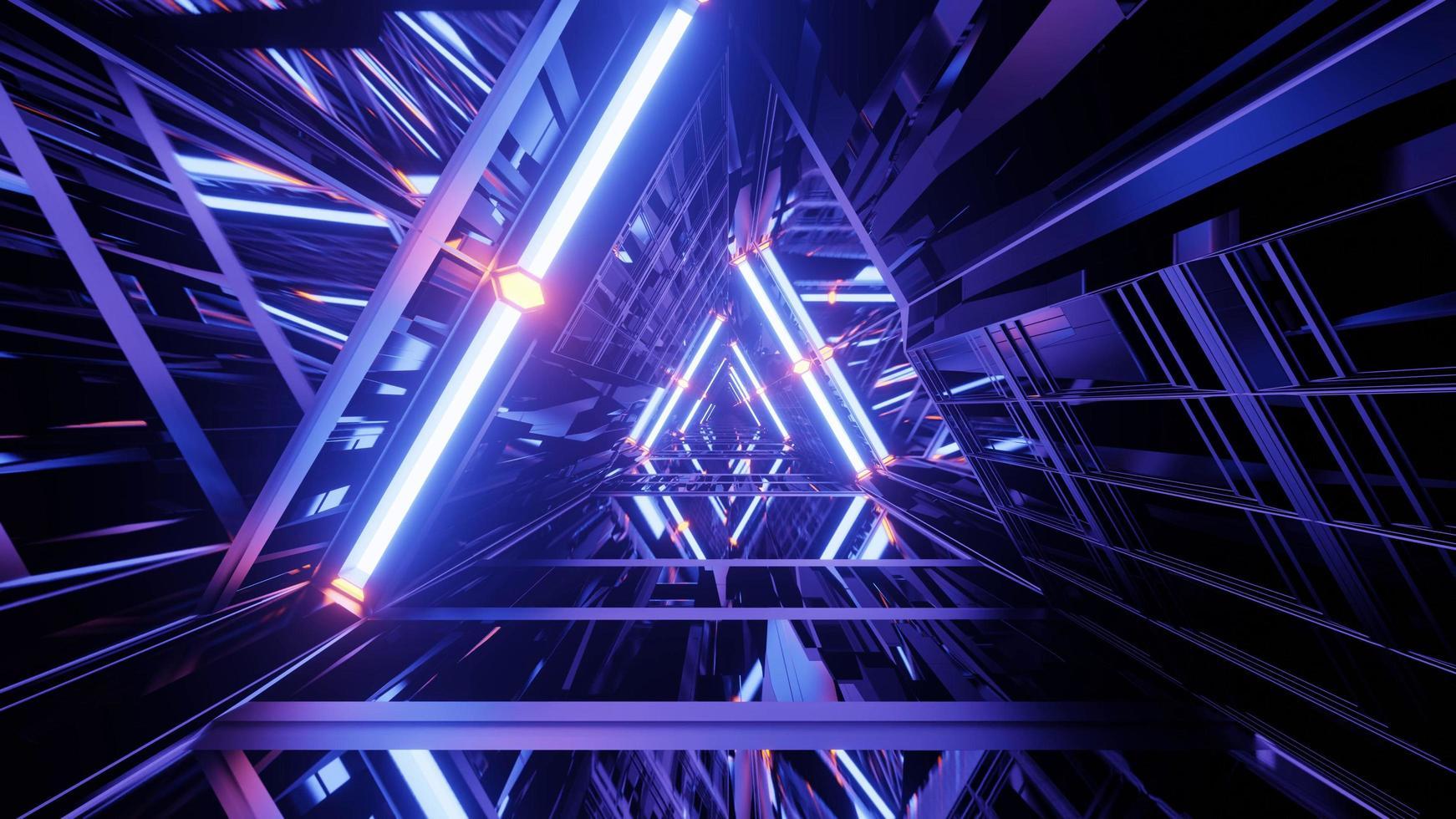 illustration 3d prisme violet photo