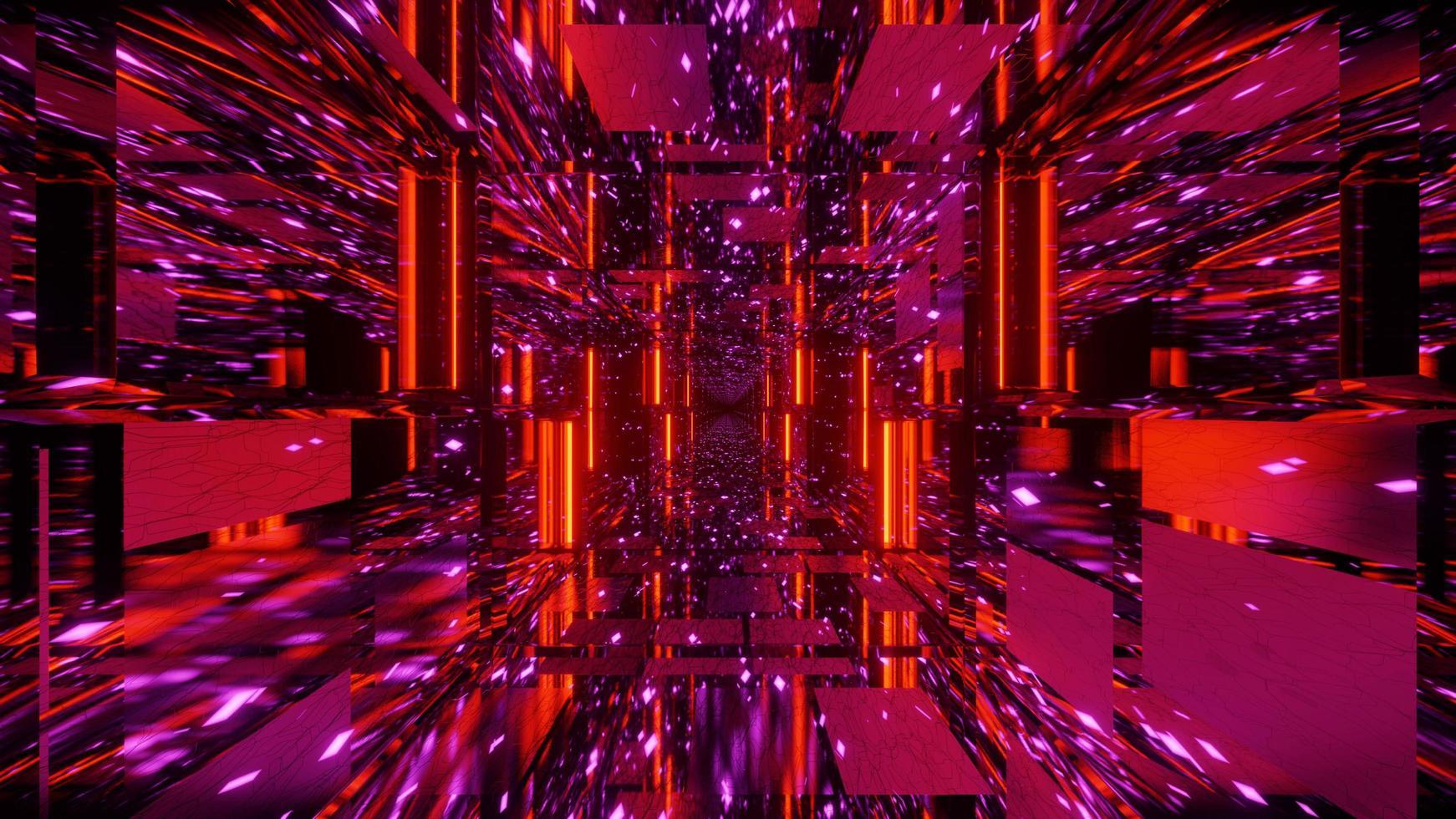 illustration 3d de tunnel cyber prismatique 4k photo