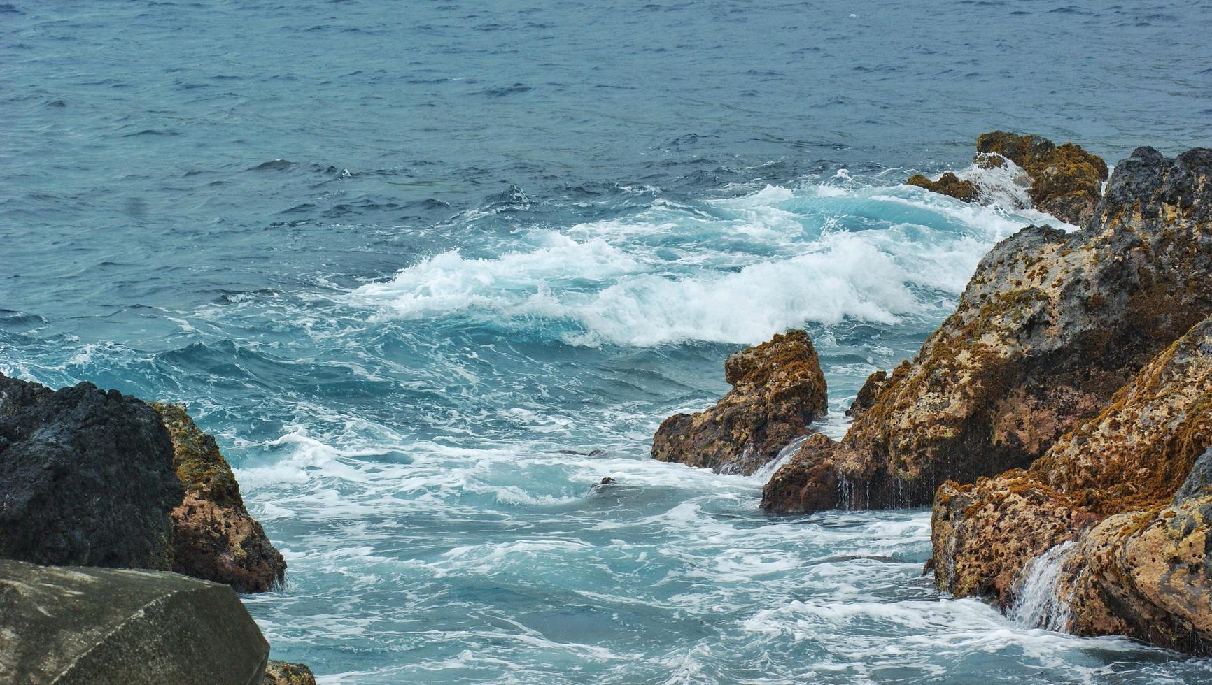 bord de mer rocheux pendant la journée photo
