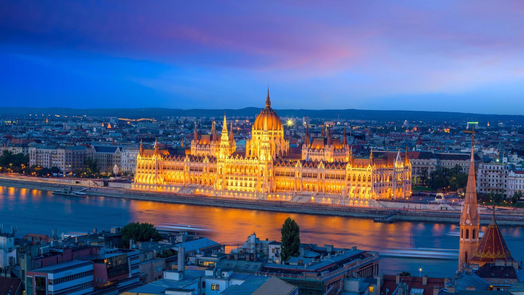 Skyline du centre-ville de Budapest en Hongrie photo