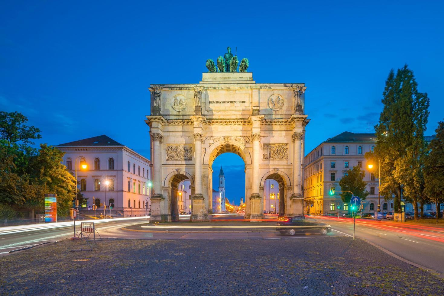 L'Arc de triomphe Siegestor Munich Allemagne photo
