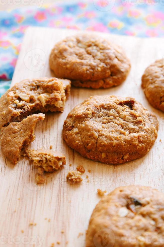 biscuits d'avoine avec raisins sec photo