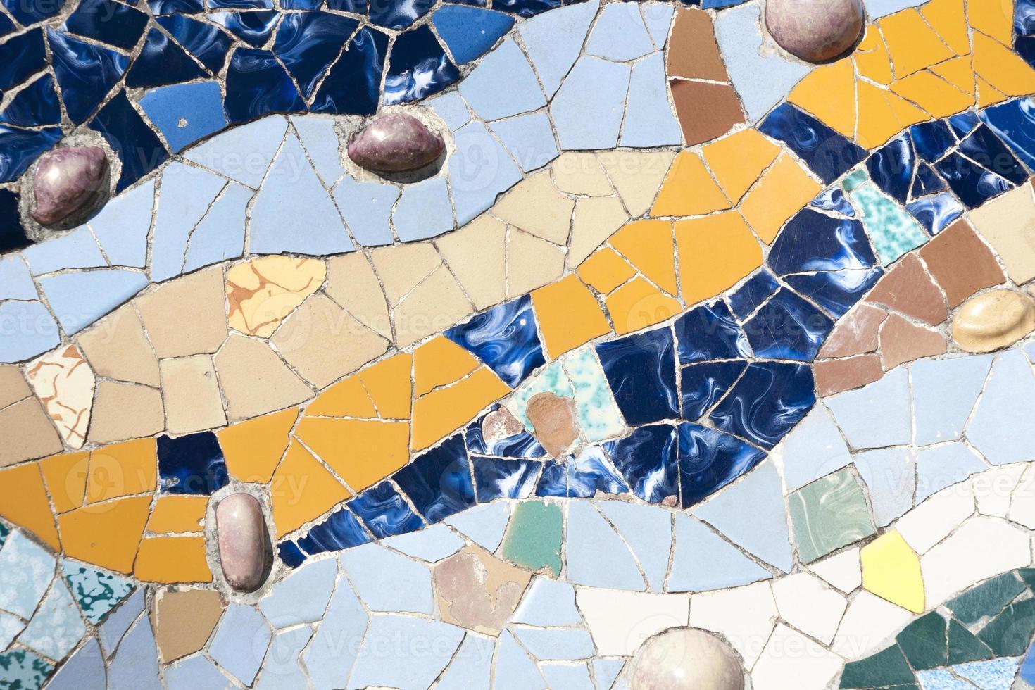 ornement en mosaïque, barcelone photo