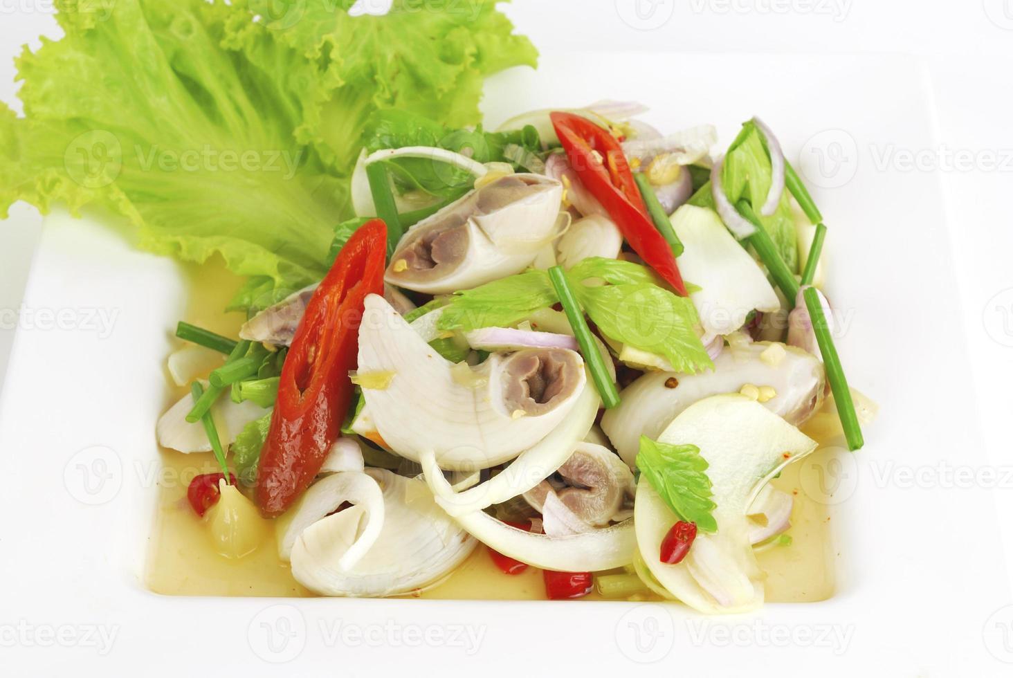 chitterlings de porc en salade épicée photo