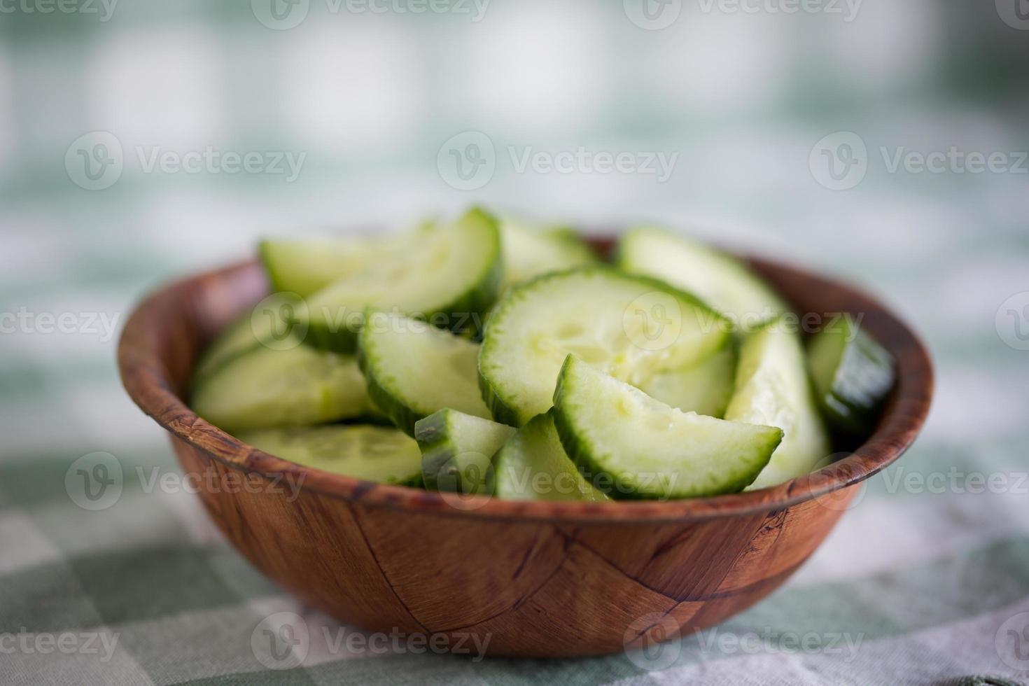 tranches de concombre photo