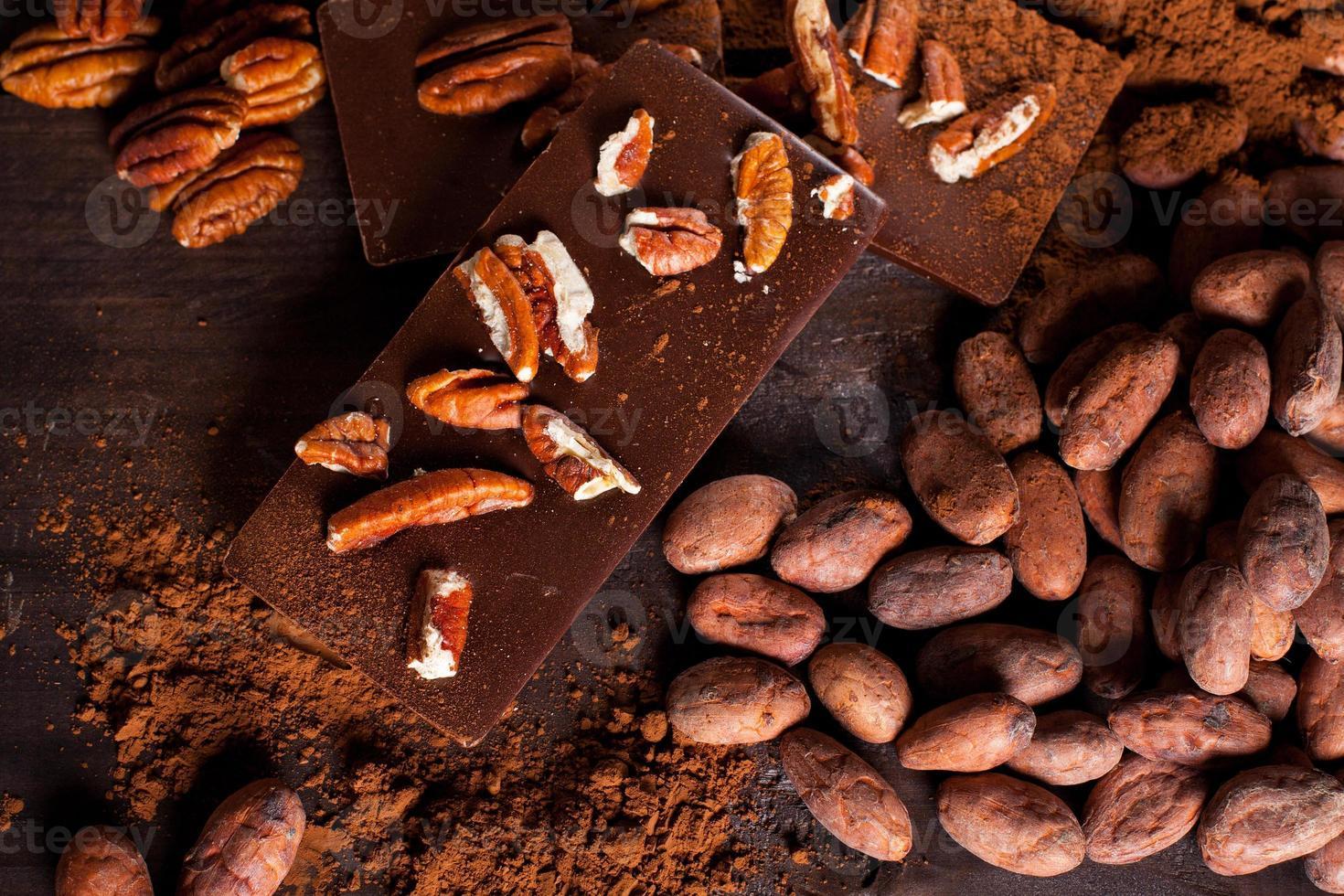 produits de chocolat. photo