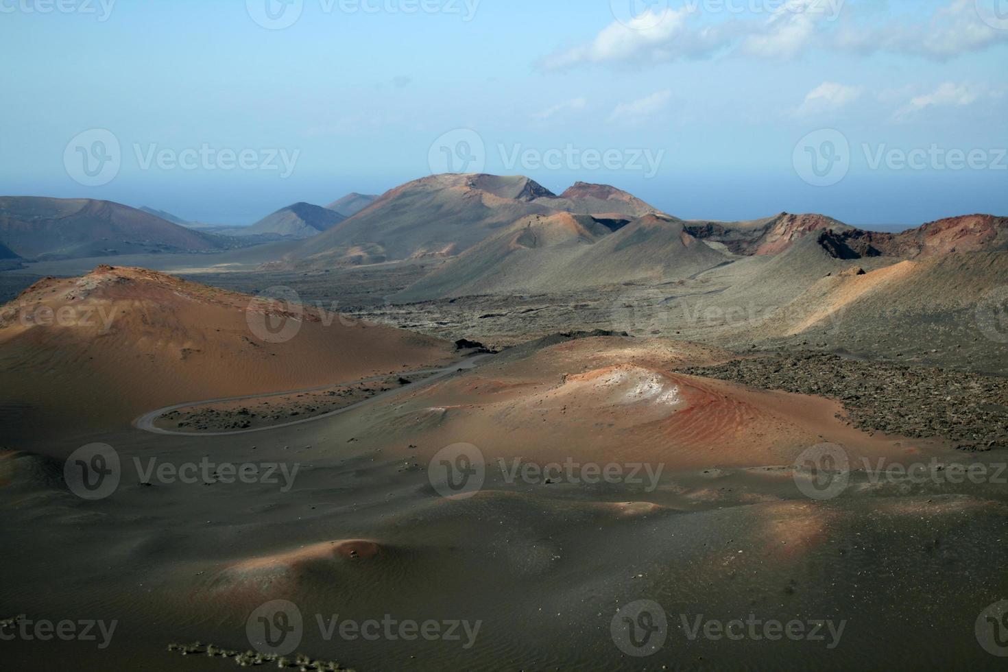 Paysage volcanique, parc national de Timanfaya, Lanzerote, Espagne photo