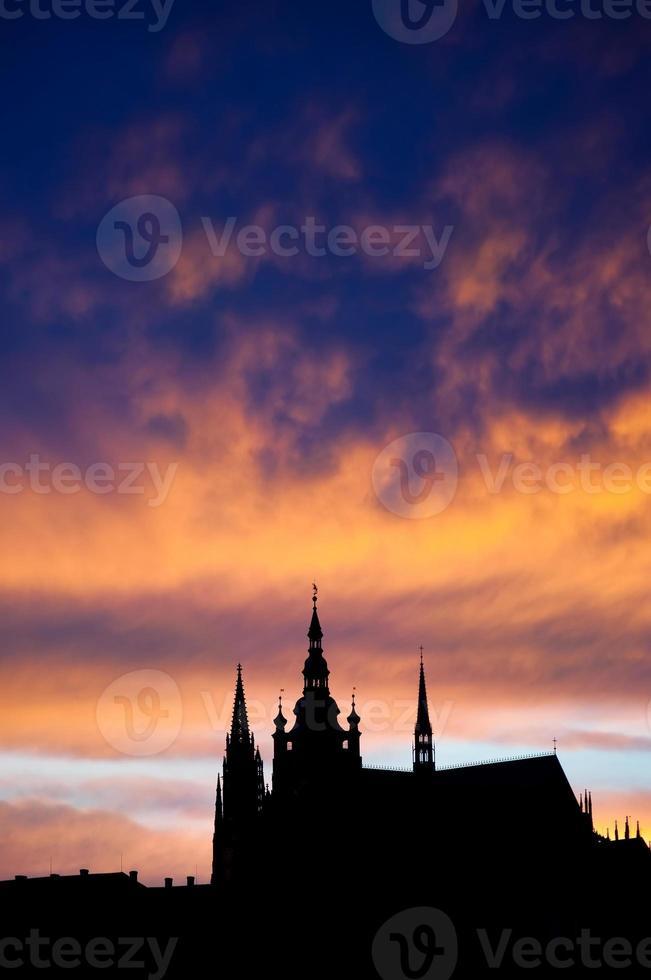 Prague la nuit. république tchèque photo