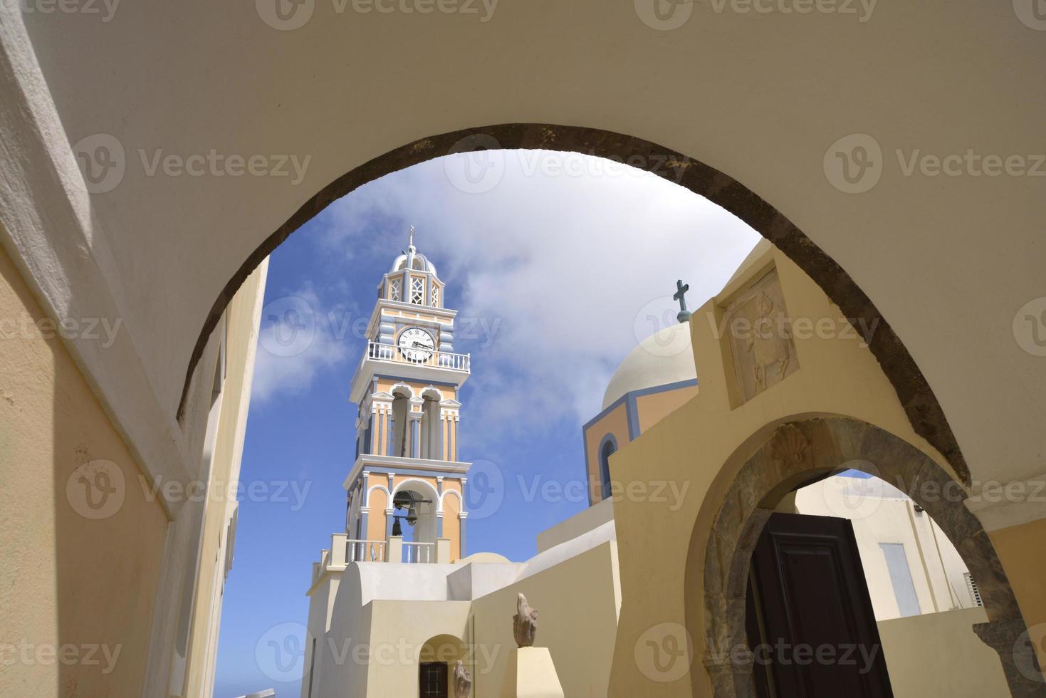 église de fira santorini photo
