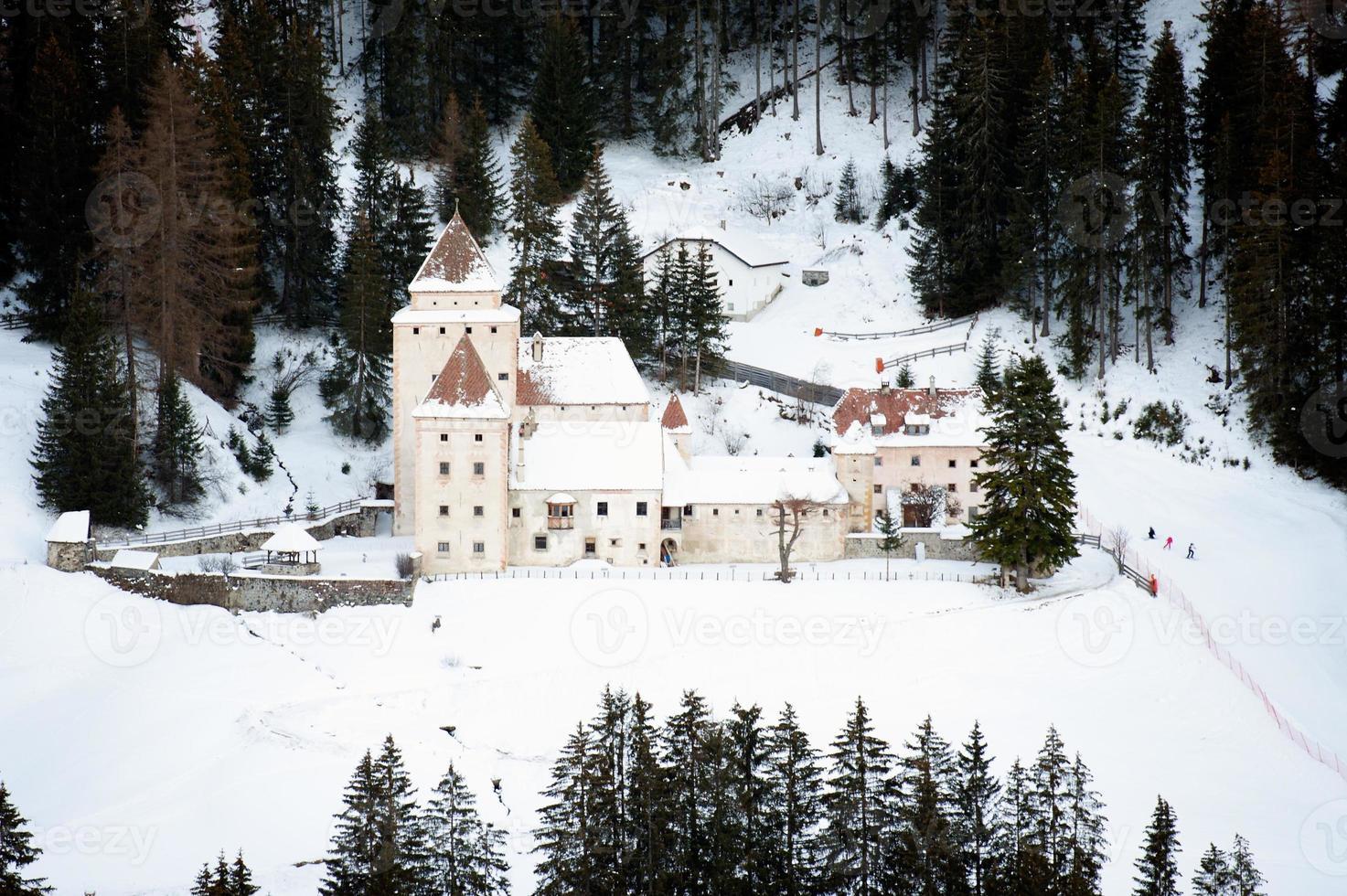 Castel Gardena à Santa Cristina, Alpes italiennes photo