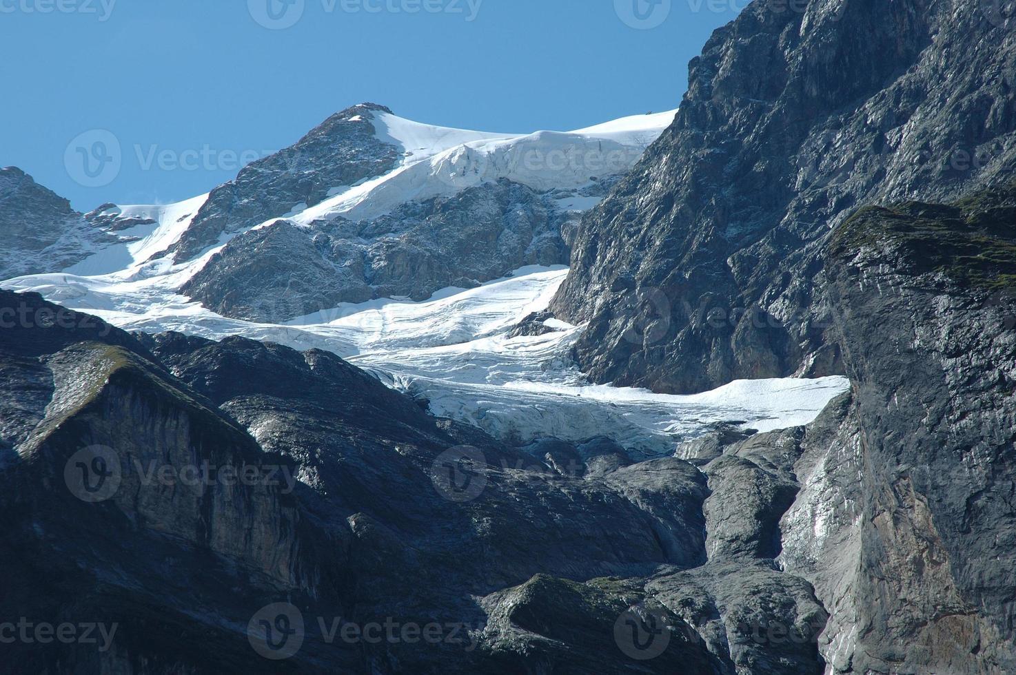 Glacier à proximité de Grindelwald dans les Alpes en Suisse photo