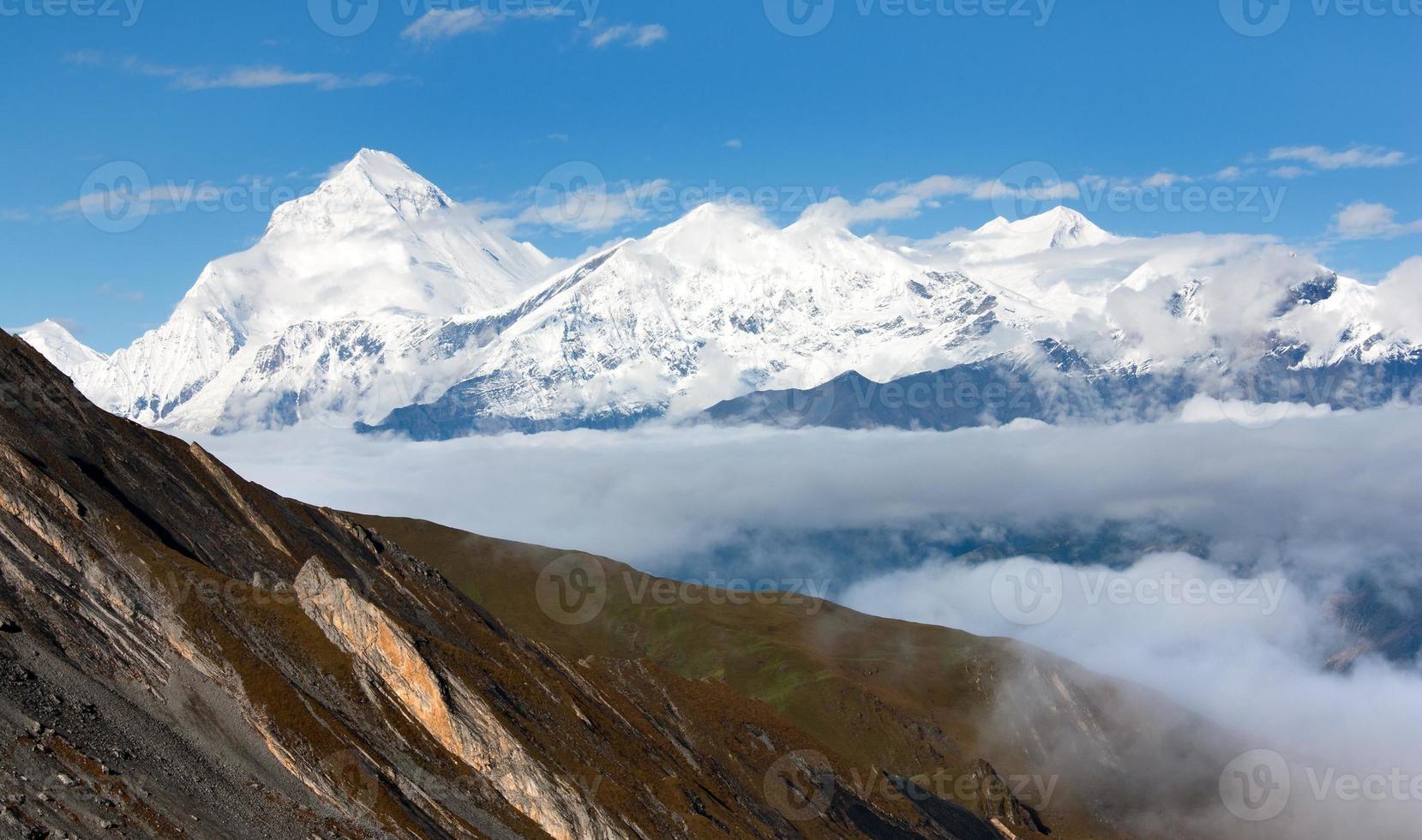 Mont Dhaulagiri - Dhaulagiri himal - Népal photo