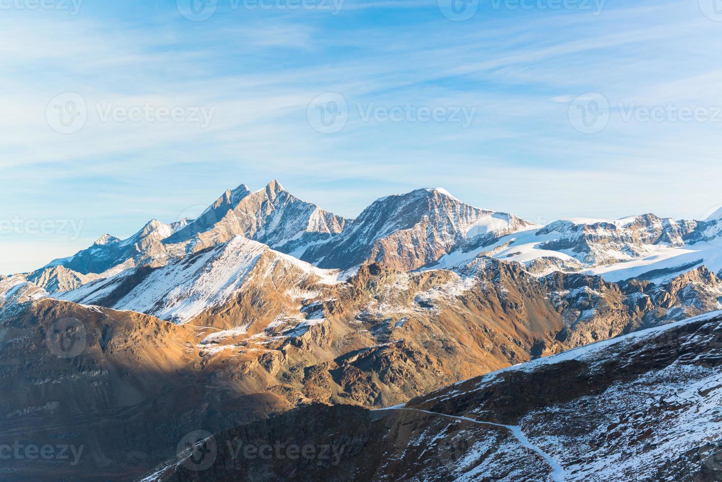 Montagne alpine de Zermatt, Suisse photo