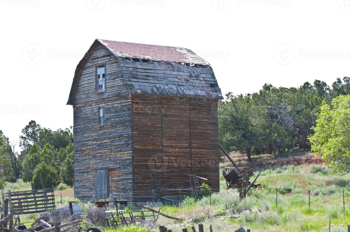 Grange abandonnée, sud de l'Utah photo