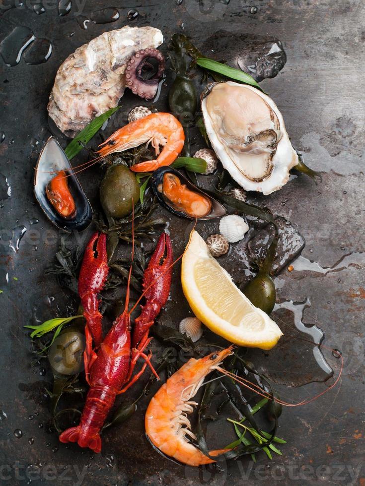 délicieux fruits de mer frais photo