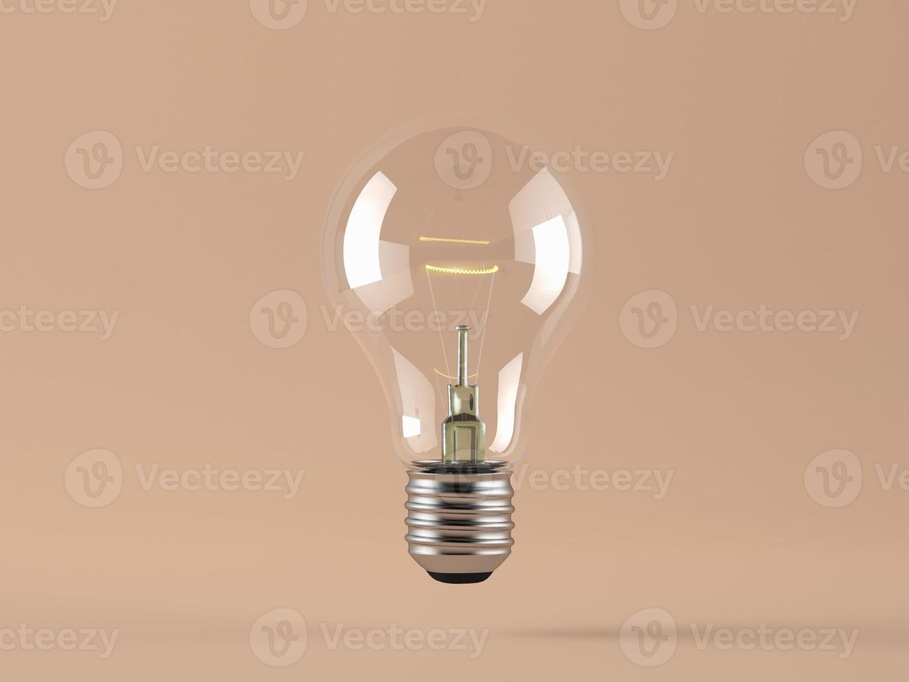 ampoule sur fond bleu. photo