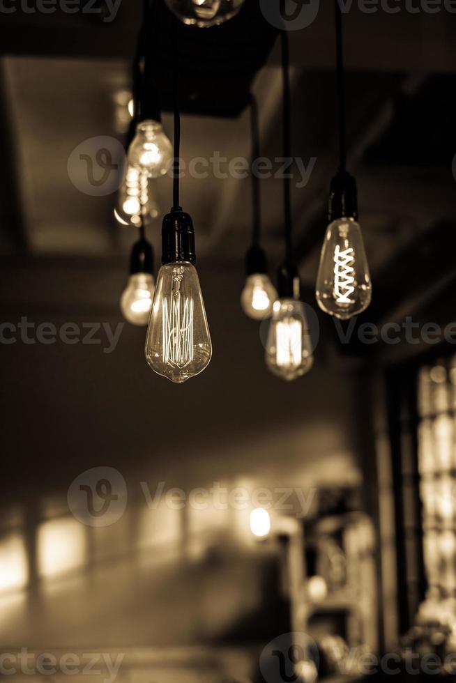 décor d'éclairage au restaurant pour le fond photo