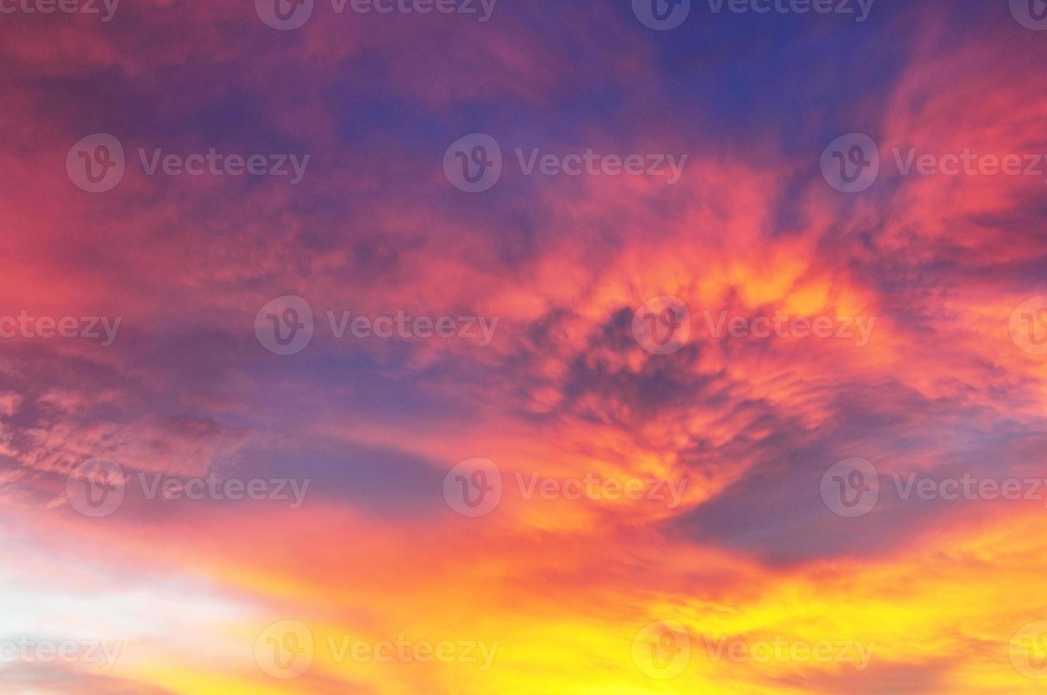 fond de coucher de soleil coloré horizontal photo