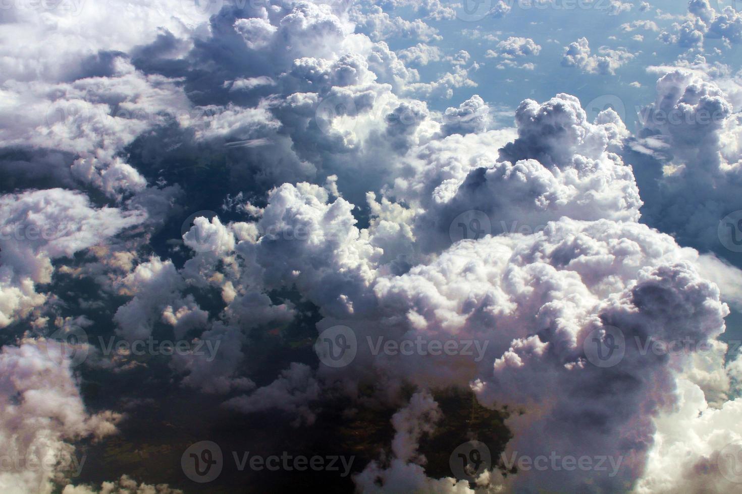 vue aérienne de beaux nuages photo