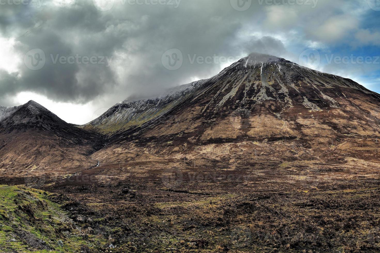 glamaig est la plus haute des collines rouges photo