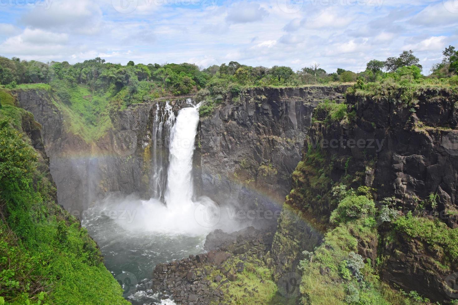 Arc-en-ciel et cataracte du diable (Devil's Falls), Victoria Falls, Zimbabwe photo