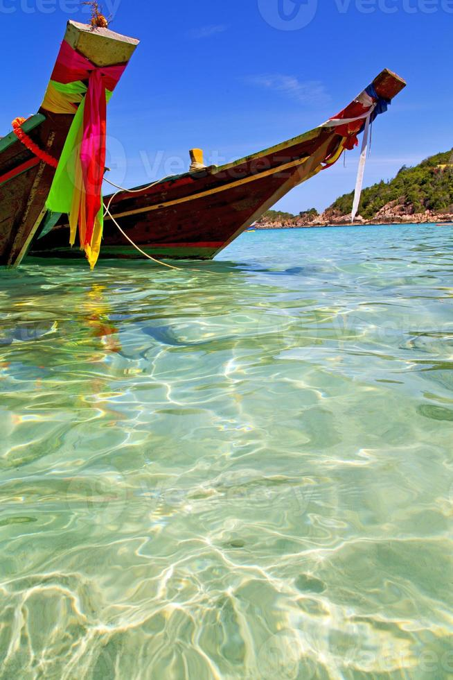 Asie dans la baie kho rocks bateau Thaïlande et sud photo