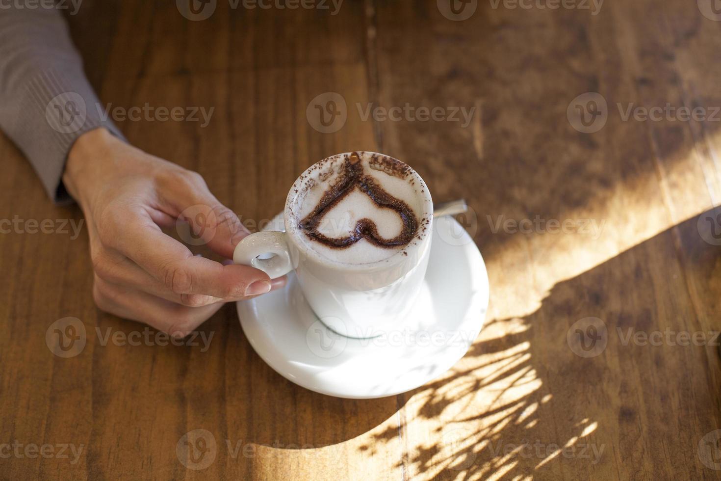 coeur cappuccino main photo