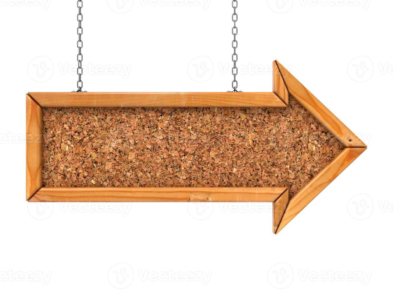 flèche en bois. photo