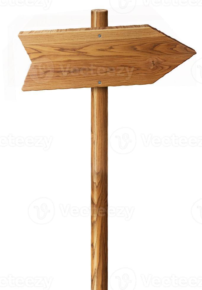 panneau de bois isolé photo