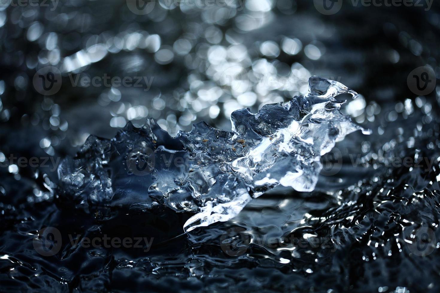 eau glacée de fond flou photo