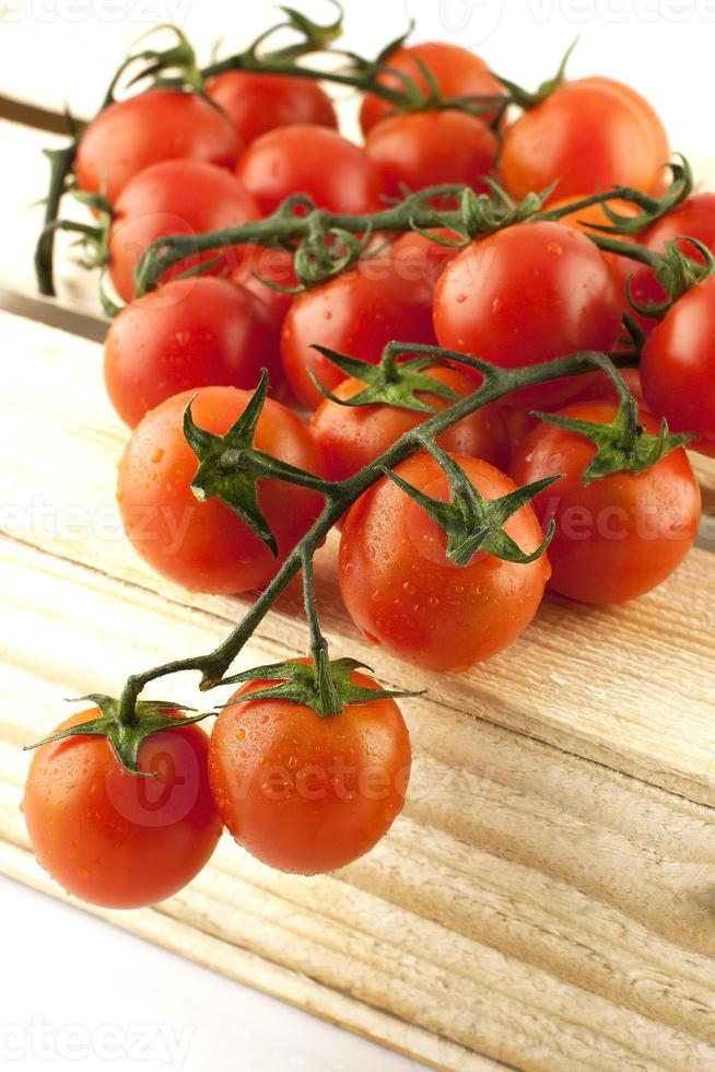 tomates avec gouttes d'eau photo