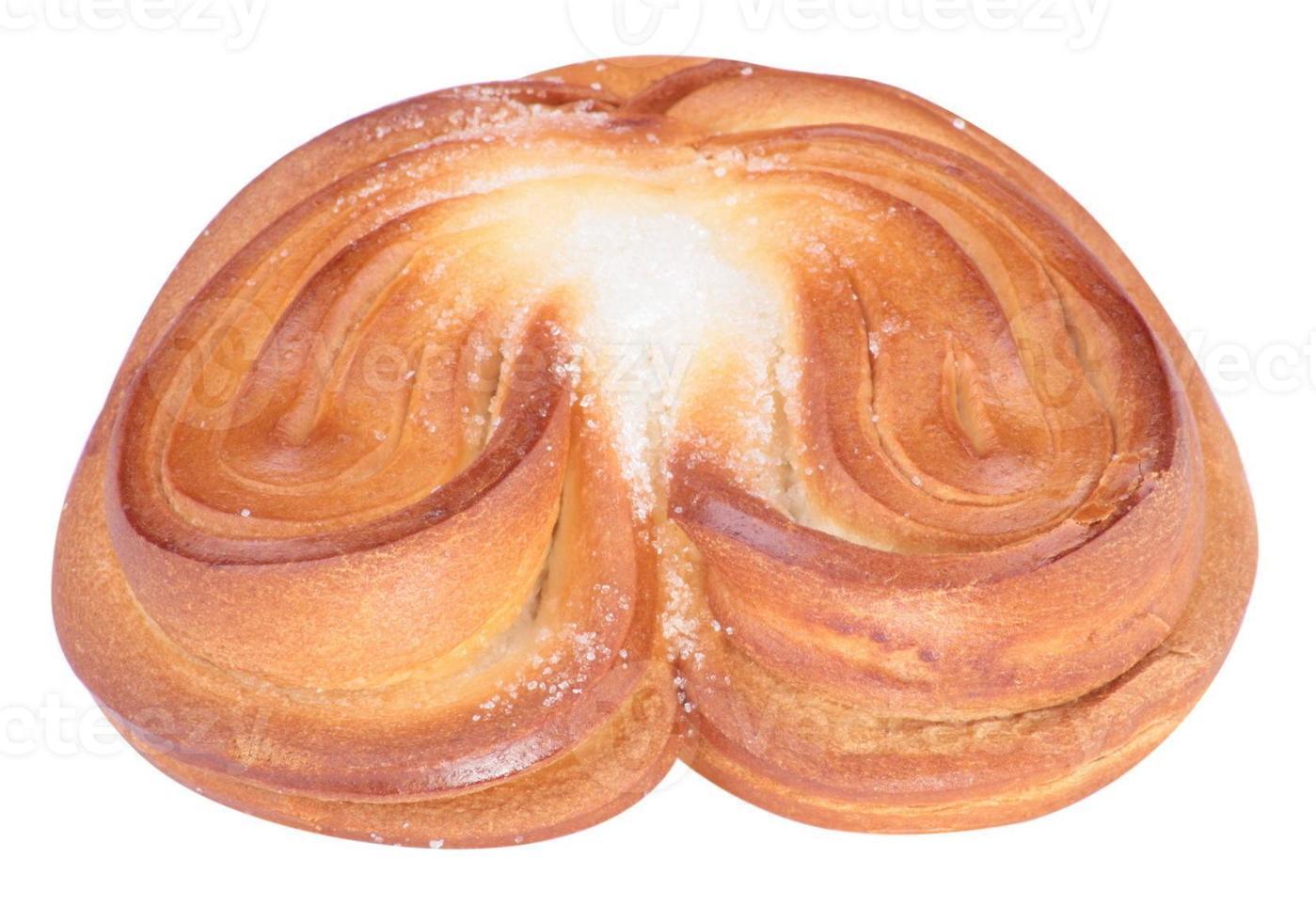 chignon torsadé en forme de coeur photo