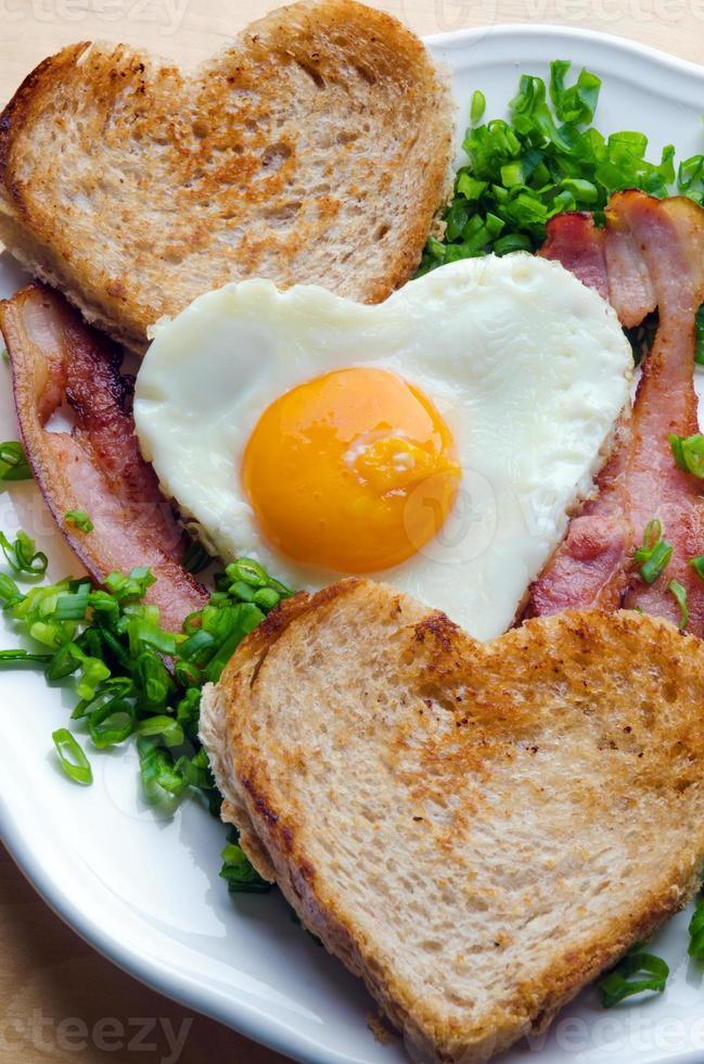 petit-déjeuner de la Saint-Valentin photo